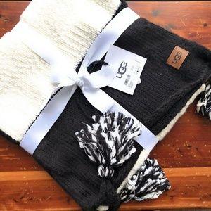 UGG Australia Pom Pom knit throw blanket